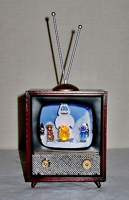 New Amusements Musical Retro Tv Rotating Rudolph, Hermey & Bumble Plays Rudolph