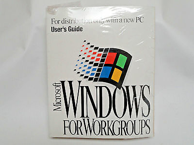Microsoft Windows for Workgroups 3.11 New  Sealed Manual & 8 Floppies