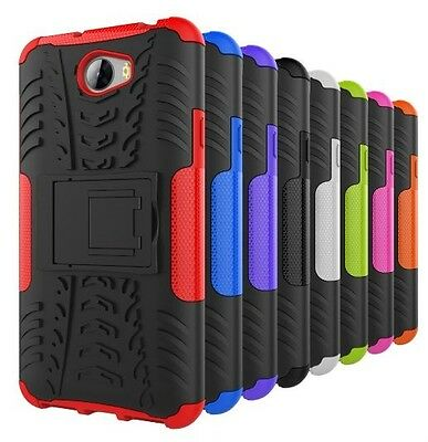 For Huawei Y6 Elite 4G / Y5II 2 Heavy Duty Tough Kickstand Strong Case Cover