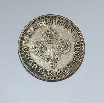 MAURITIUS 1/4 RUPEE 1946---buy 3 fixed price get free S/H---n8