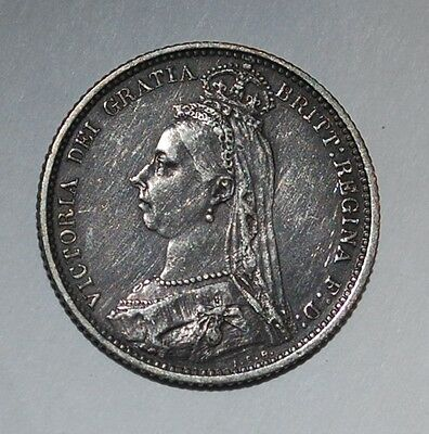 Great Britain UK 6 Pence, 1887---buy 3 fixed price get free S/H---m42