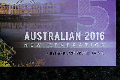 2016 Australian $5 bank note Folder. ****Limited-Edition****