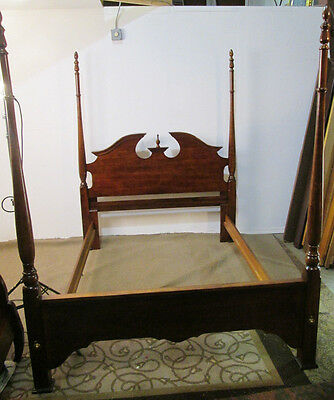 00001 Cherry Poster Full  / Queen Size Poster  Bed w/ Rails
