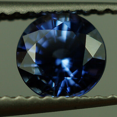 0.86 ct 100%Unheated Natural Round Blue Sapphire Rare IF Qul With GIA Certifiate