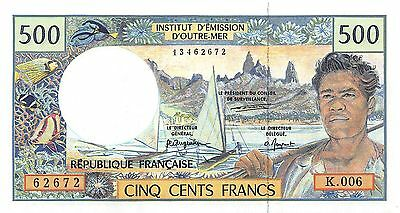 French Pacific Territories 1995 500 Francs P-1 UNC