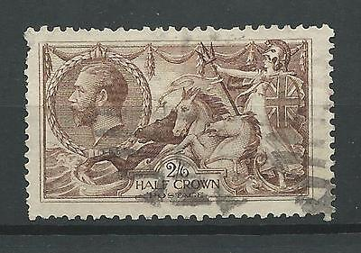 Great Britain1919 Sc#179 Seahorses Type-retouched(has dot)Used Cat$75 See detail