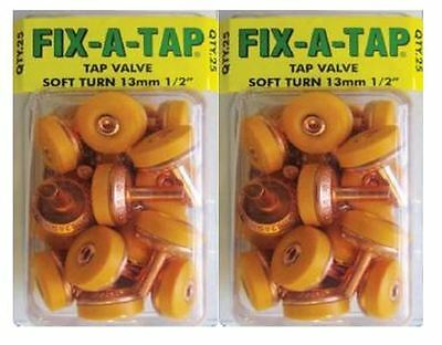 "Soft Turn Fix A Tap Washers Valves 13Mm 1/2"" 50 Pack Australian Made Valve New"