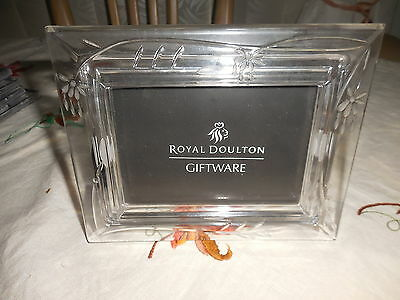 Royal Doulton Giftware Finest Crystal Austria  Falling Stars 5 X 3 Photo Frame