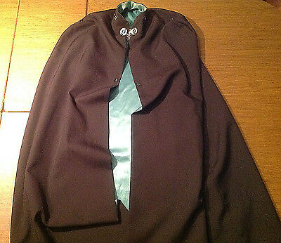 Vintage The English Company Knights of Columbus KOC Green Lined Cape Jacket