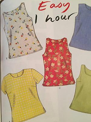 New Look Sewing Pattern 6483 Ladies Misses Easy 1 Hour Tops Size 6-16 New