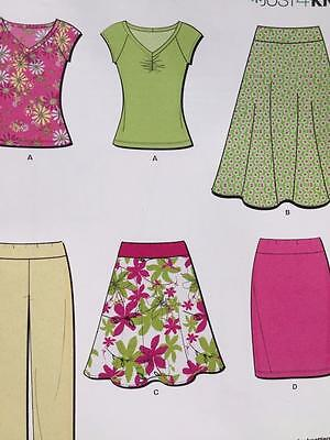 # New Look Sewing Pattern 6977 Ladies Misses Skirt Pants Top Size 6-16 New