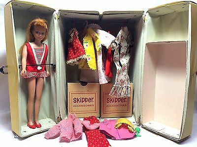 Mattel Vintage '64 Barbie Little Sister Skipper Carrying Case Set w/ Accessories