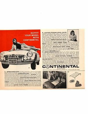 1966 Mgb ~ Original Smaller Continential Accessories Print Ad