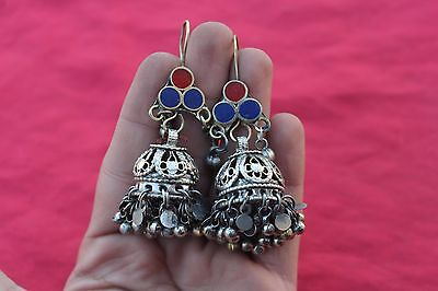 Afghan Ethnic Tribal Antique Old  Kuchi Banjara Traditional Jewelry earring