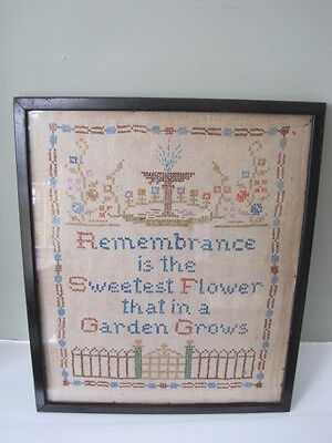 Victorian Sampler in Original Ebonised Frame