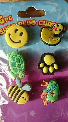 6 Piece Crocs Shoe Plug Charms jibbitz Slippers Accessories stocking fillers