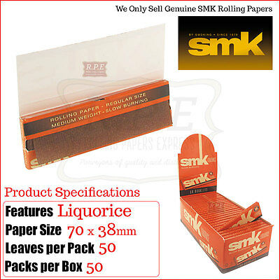 Liquorice Cigarette Papers By SMK (Smoking Brand) High Quality -Multi Variations