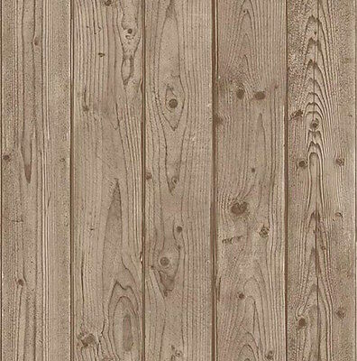 HQ RUSTIC Wood TIMBER Look 10m Roll WALL PAPER Premium wallpaper - NEW ART 1047B