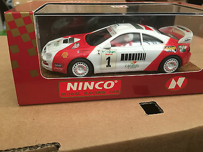 NINCO discontinued rare TOYOTA CELICA GT4 CANARIES RED/WHITE REF 50152