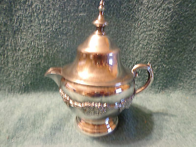 WM A ROGERS Old English Reproduction 6133 Silverplated Creamer with Lid