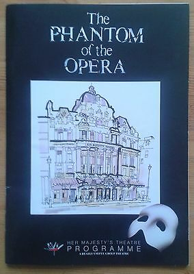 The Phantom of the Opera programme Her Majesty's Theatre Nov 2009 David Shannon