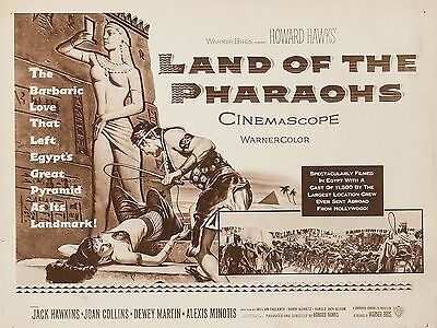 """Land of the Pharaohs 16"""" x 12"""" Reproduction Movie Poster Photograph 2"""