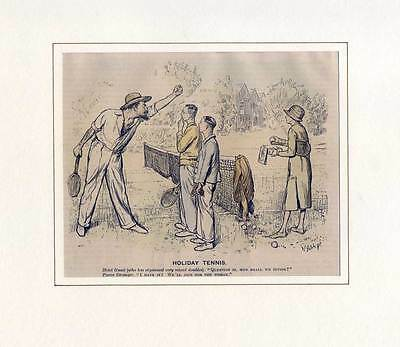 "Holiday Tennis - Karikatur aus ""Punch"", um 1910"