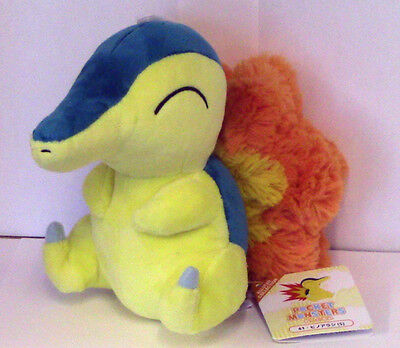 SANEI Japan Pokemon All Stars Collection Cyndaquil Plush Soft Toy 6 Inch NEW UK
