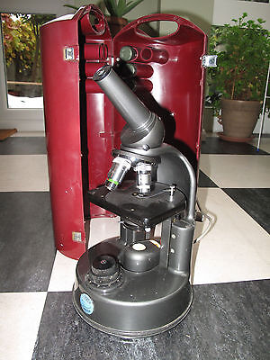 C Baker Patholette Microscope 1960s with case