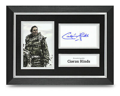 Ciaran Hinds Signed A4 Photo Framed Game of Thrones Memorabilia Autograph +COA