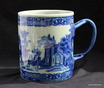 Flow Blue Ironstone Large Tankard 2 Pints Victoria Ware