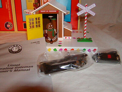 Lionel 6-36998 Christmas Gingerbread Man Operating Gateman O 027 New 2013
