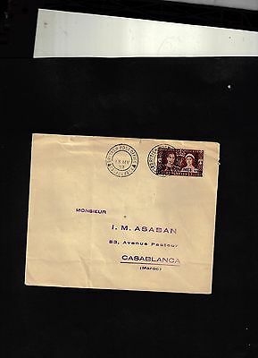 1937 Cover sent from British Post Office in Casablanca