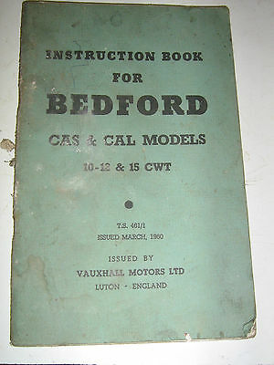 1960 Bedford CAS and CAL instruction book