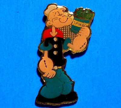 Popeye - Can Of Spinach - The Sailor Man Cartoon - Vintage Lapel Pin - Hat Pin