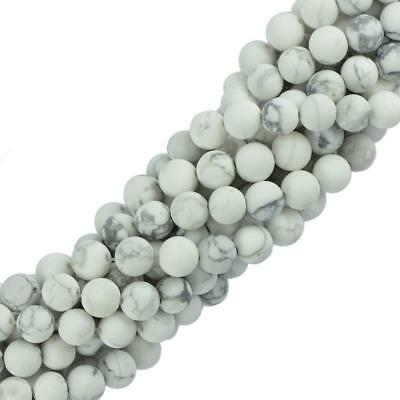 """6mm 8mm Natural Stone Howlite Turquoise Gemstone Round Spacer Loose Beads 15"""""""