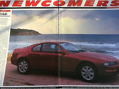 Honda Prelude # Newcomer Report # Original 1992 Automotive Article # 4 Pages