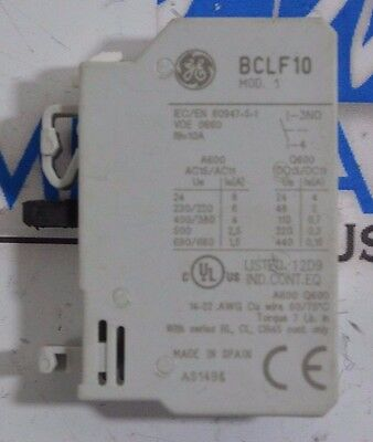 General Electric GE 10 Amp 600 Volt Auxiliary Contact Block  BCLF10 LOT OF 10