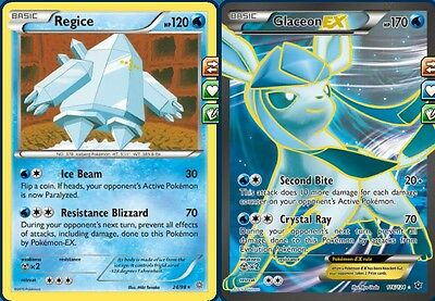 Complete Regice Glaceon-EX Standard Deck (Immunity) for Pokemon TCG Online PTCGO