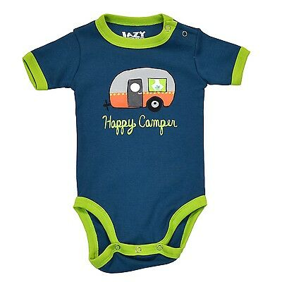 LazyOne Jungen Happy Camper Night Out Säugling Bodies