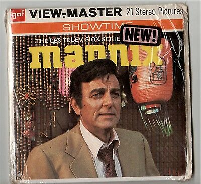 MANNIX VIEW MASTER 21 Stereo Pictures GAF SHOWTIME B450 VINTAGE 1974 VERY RARE