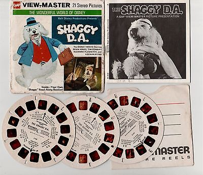 SHAGGY D.A. WORLD OF DISNEY VIEW MASTER 21 Stereo Pictures GAF B368 VINTAGE