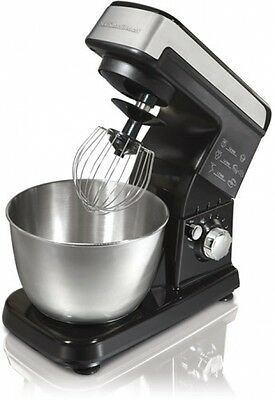 New Kitchen Black 3.5-Quart Stand Mixer W/Planetary Mixing Action 300W 6 Speed