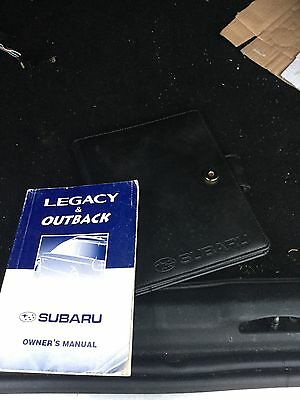 Subaru Legacy / Outback Owners Handbook Manual and Wallet 1999 - 2002