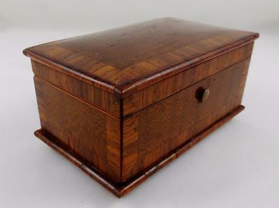 Lovely Antique Inlaid / Marquetry Rosewood Trinket Box circa Early 1900s