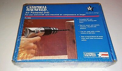 "Campbell Hausfeld TL1006 Air Powered Pneumatic Drill 3/8"" 10mm"