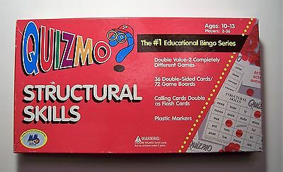 Structural Skills Quizmo Educational Bingo Series Home School Ages 10 - 13