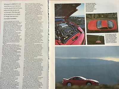 Mitsubishi 3000 Gto 1992 Model # 4 Page Original1992 Automotive Article