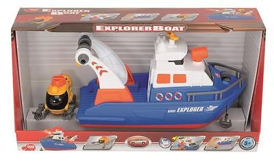 Dickie Toys Explorer Boat With Light And Sound - Free P&p