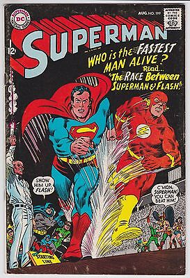 Superman #199 F- 5.5 First Superman And Flash Race!!